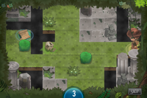 Lush jungle paths, dark temples and desolate caves comprise Cognitile's treasure hunting world.