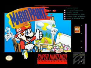 Mario Paint was sort of a suite of animation, sound and art tools for the SNES.